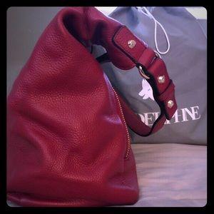 NWT Ora Delphine red leather hobo shoulder bag